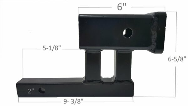 """1-1/4"""" Inch to 2"""" Inch Hitch Adapter with 4"""" Inch Rise and 3-3/8"""" Inch Drop for Class 1 or 2 Receiver Dimensions"""
