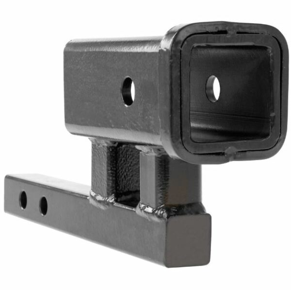 """1-1/4"""" Inch to 2"""" Inch Hitch Adapter with 4"""" Inch Rise and 3-3/8"""" Inch Drop for Class 1 or 2 Receiver"""