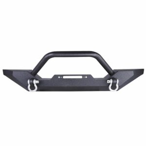 1986-2006 Jeep Wrangler TJ YJ Front Bumper Winch Plate D-Ring Rock Crawler Black