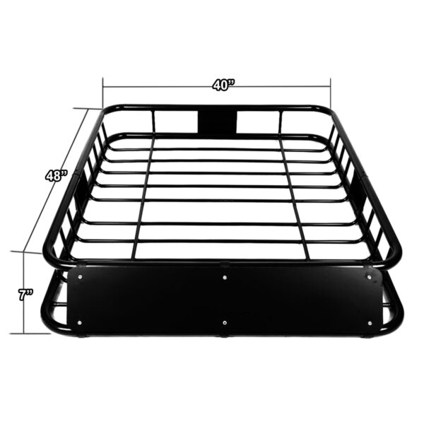 "Roof Luggage Carrier Basket 48"" Inches x 40"" Inches Dimensions"