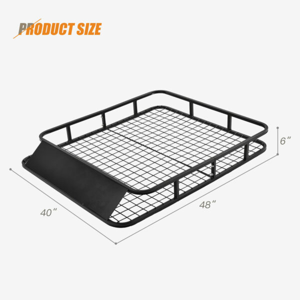 Universal Roof Rack Basket Car Top Luggage Carrier Cargo Holder Travel 1