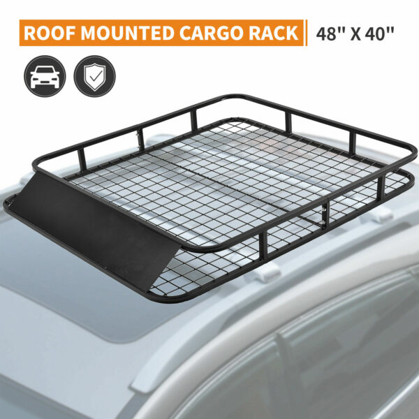 Universal Roof Rack Basket Car Top Luggage Carrier Cargo Holder Travel 2