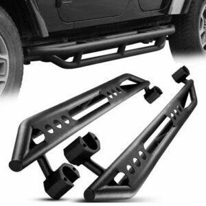 Side Armor Bars Nerf Step Black For 07-17 Jeep Wrangler JK & Unlimited 4 Door 4D