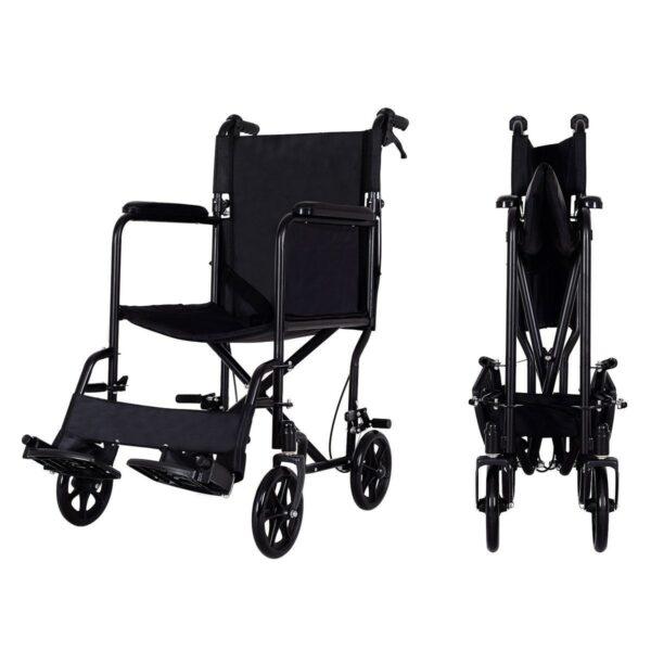 FDA Approved Lightweight Foldable Medical Wheelchair w/ Hand Brakes 1