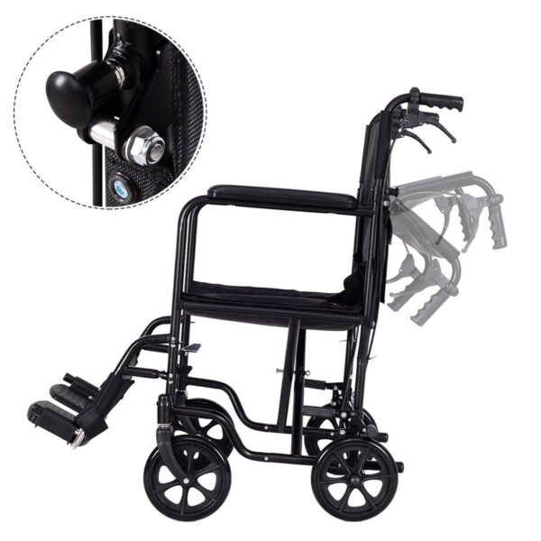 FDA Approved Lightweight Foldable Medical Wheelchair w/ Hand Brake Collapse