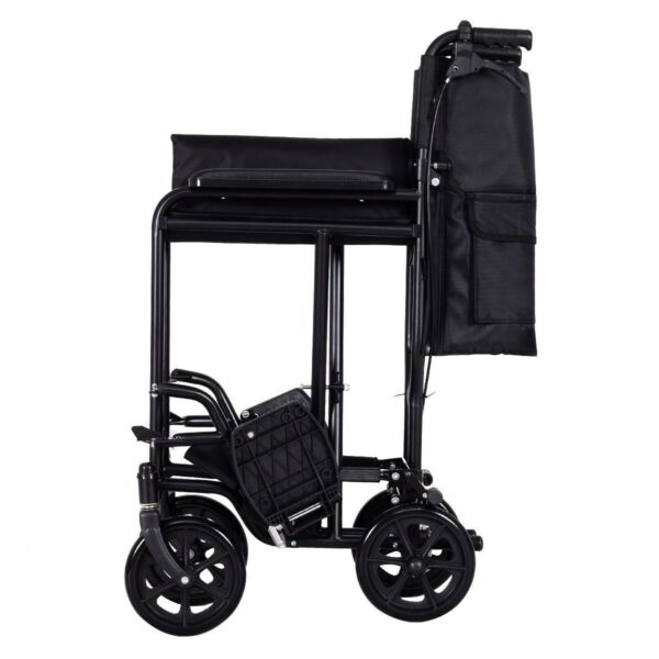 FDA Approved Lightweight Foldable Medical Wheelchair w/ Hand Brakes Side