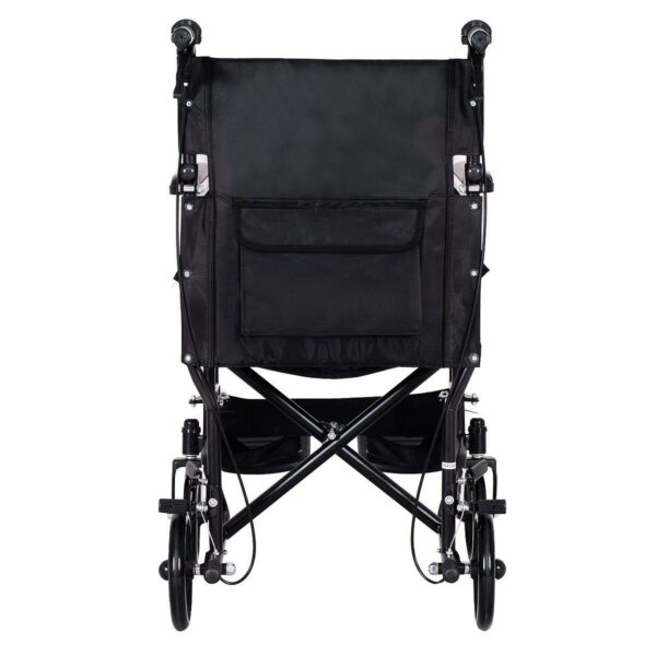 FDA Approved Lightweight Foldable Medical Wheelchair w/ Hand Brakes Front