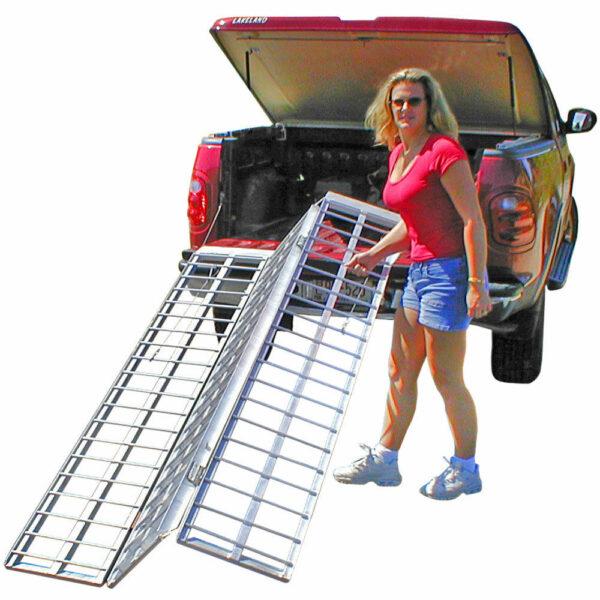 "Aluminum Tri Fold Ramp 69"" Inches x 45"" Inches"