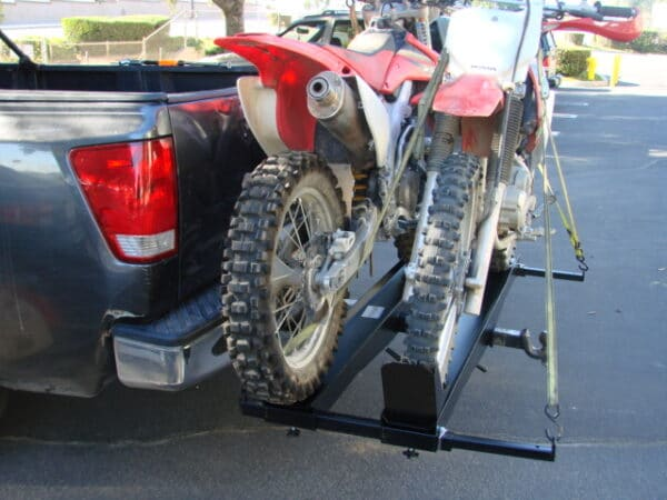 Double Dual Dirt Bike Dirtbike Motorcycle Scooter Tow Hitch Carrier Rack Hauler Trailer