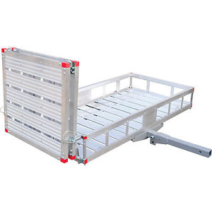 """XL 60""""L X 29""""W Wheelchair Mobility Scooter Folding Tow Hitch Trailer Carrier Rack"""