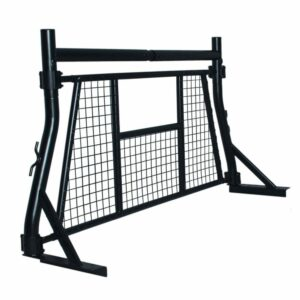 Front Truck Ladder Headache Back Rack for Pickup with Rear Guard Window Screen Protector