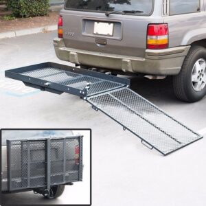 "400 lb Wheelchair Mobility Scooter Folding 2"" Inch Tow Hitch Carrier Lift Rack Returns Factory Outlet"