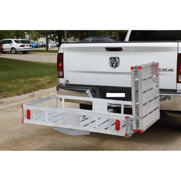 """XXL 60"""" X 29"""" Wheelchair Mobility Scooter Folding Tow Hitch Carrier Rack Lift Ramp Side"""