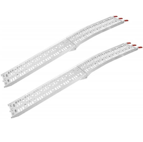 Pair Set 7.5' Ft Long Aluminum Arched Folding Loading Ramps