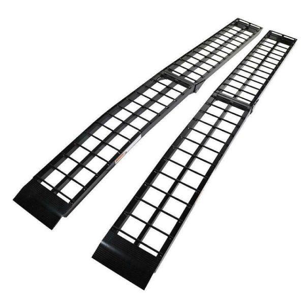 Pair Set 9' Ft Long Arched Aluminum Folding Loading Ramp Ramps Set
