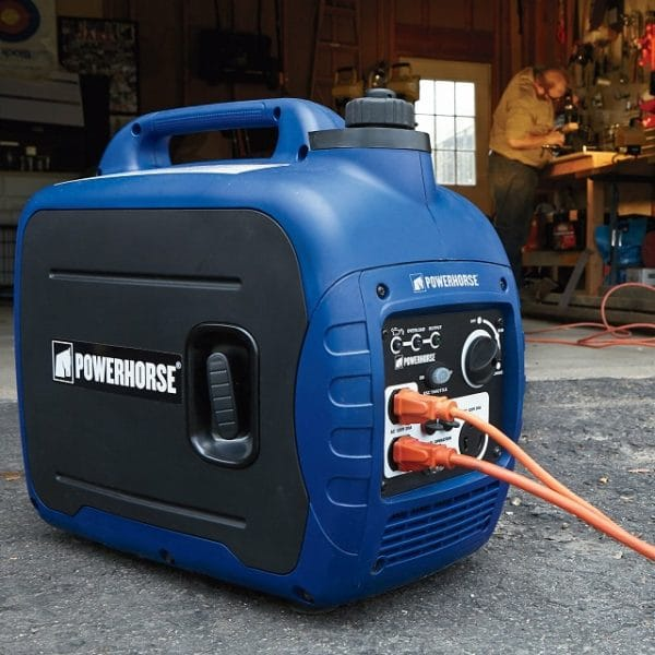 Fuel Efficient Portable Gasoline Inverter Generator - 2000 Surge Watts -1600 Rated Watts, CARB Compliant