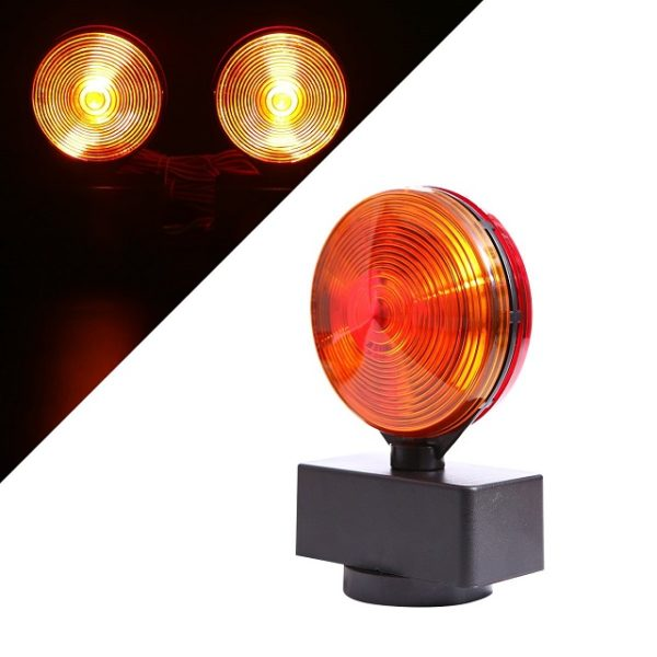 LED 2 Pc Magnetic Towing Trailer Lights Kit Amber Flashing Color