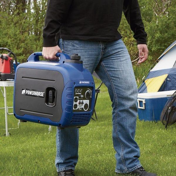 Portable Gasoline Inverter Generator - 2000 Surge Watts - CARB Compliant
