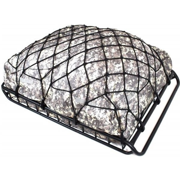 Super Duty Rooftop Travel Luggage Elastic Bungee Cargo Carrier Net - 3'x4' Stretches to 6'x8' for Oversized Roof Top Basket Rack