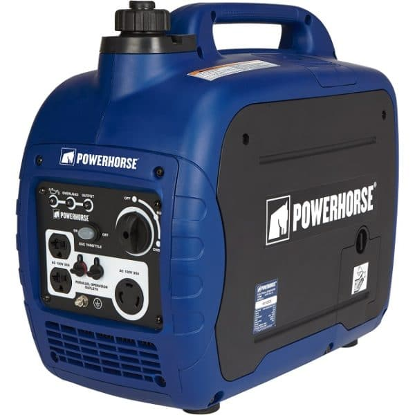 Super Quiet Portable Gasoline Inverter Generator - 2000 Surge Watts -1600 Rated Watts, CARB Compliant