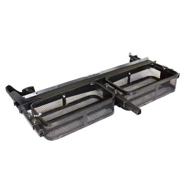 Tow Hitch Carrier Rack for Motorcycle with Two Cargo Baskets for Gas Cans