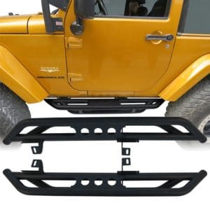 07-17 Jeep Wrangler JK & Unlimited 2 Door Side Step Armor Nerf Guard Running Boards