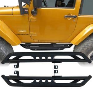 07-17 Jeep Wrangler JK & Unlimited 2 Door Side Step Armor Nerf Guard Running Boards