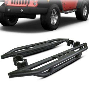 Side Armor Bars Nerf Step Black For 07-17 Jeep Wrangler JK & Unlimited 2 Door 2D