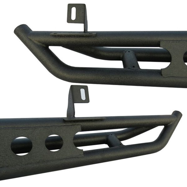 Two mounting brackets make your nerf bar step stable