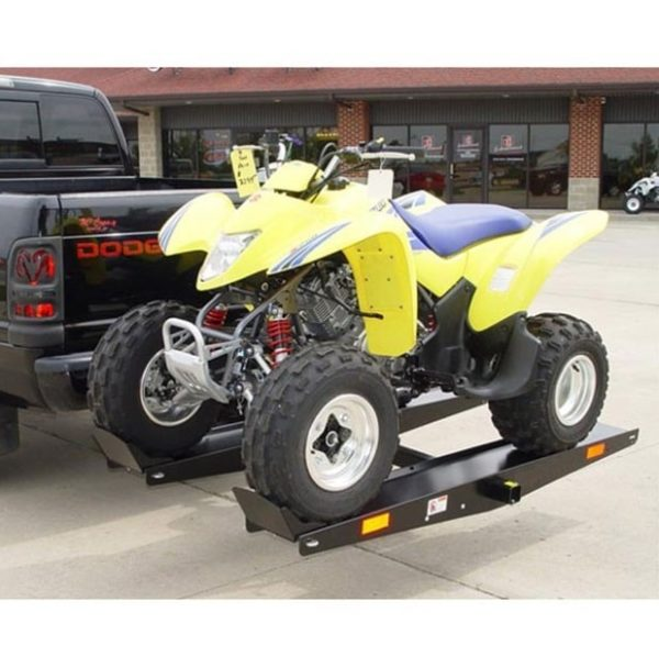 Quad ATV Go Kart Tow Hitch Carrier Rack on Back of Vehicle