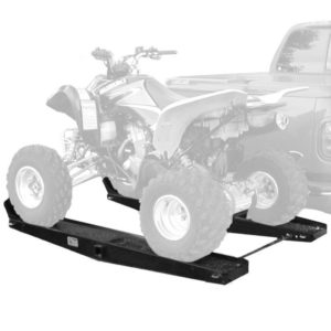 """Quad ATV Go Kart Tow Hitch Carrier Rack with Auxiliary 2"""" Towing Receiver"""