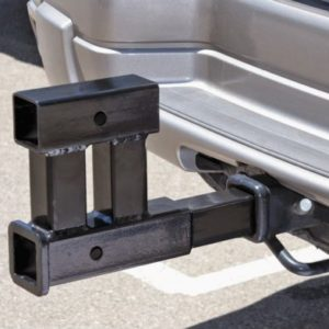 "Dual 2"" Trailer Tow Hitch Receiver Rise-Drop Adapter Extender Extension"