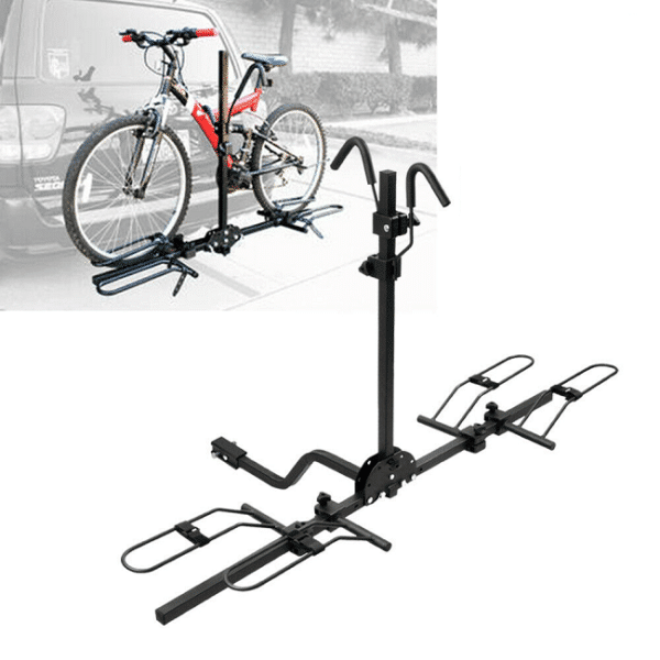 """2 Bike Bicycle 1-1/4"""" & 2"""" Hitch Mount Carrier Rack for Car Van Truck SUV"""