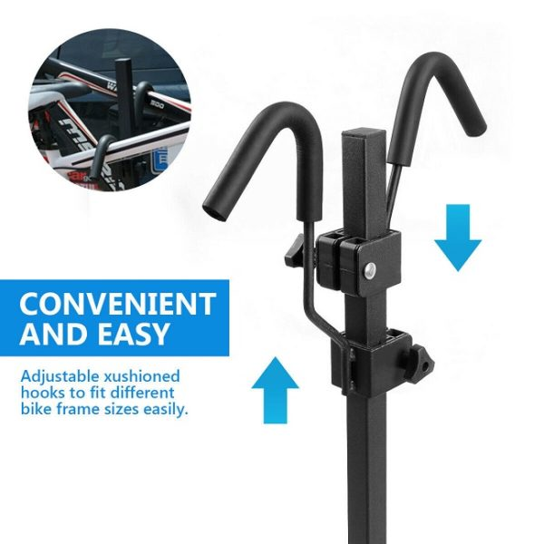 Adjustable cushioned hooks to fit different bike frames