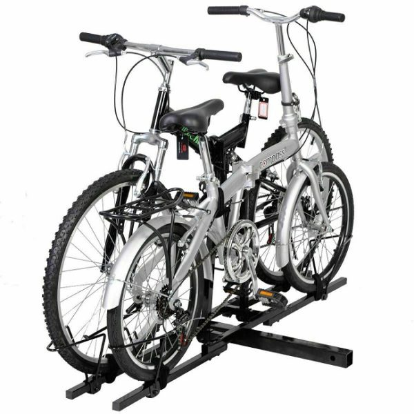 "Heavy Duty 2 Bike Bicycle 2"" Hitch Mount Carrier Platform Rack"