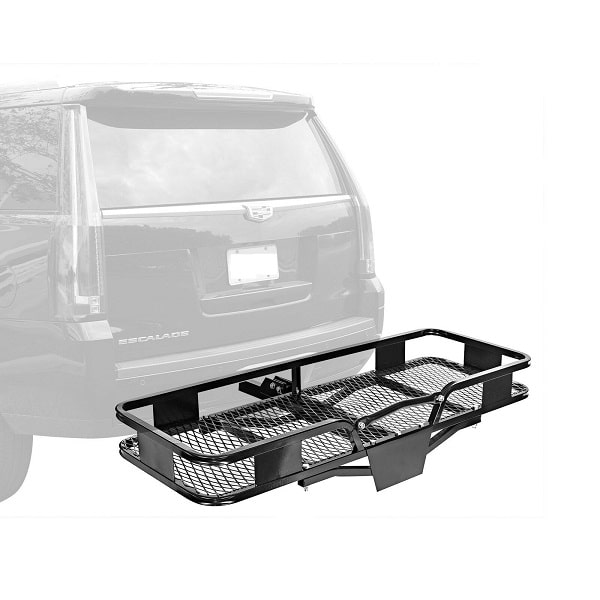 "60"" Inch x 20"" Inch Folding Tow Hitch Cargo Carrier Rack 500 lbs Capacity for Car Van Suv Truck RV"