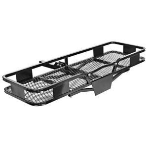 "60"" Inch x 20"" Inch Folding Tow Hitch Cargo Carrier Rack Travel Luggage Rack Basket - 500 lbs Capacity"